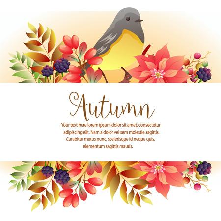 garden autumn birsong template