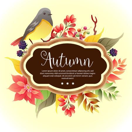 garden foliage template autumn birdsong