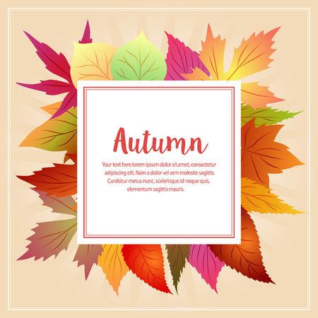 autumn fall animal with seasonal leaves Иллюстрация