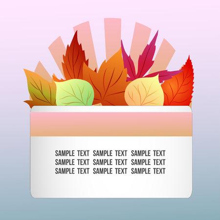 autumn theme with seasonal leaves