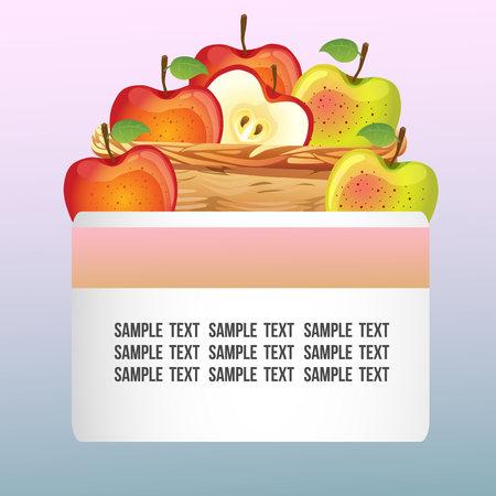 autumn theme with basket of apple