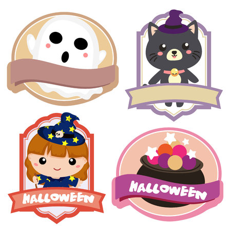 halloween lovable character label