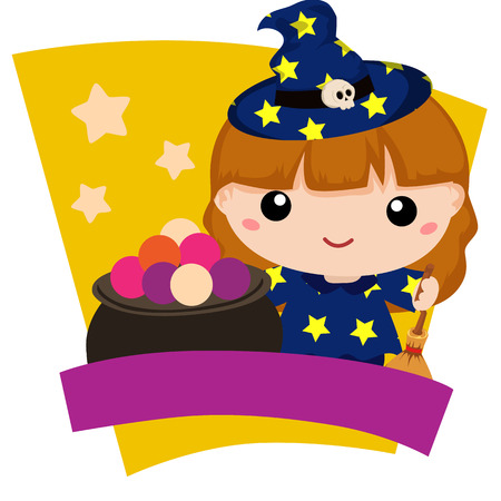 halloween lovable kids witch