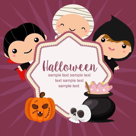 hello halloween card costume kids dracula