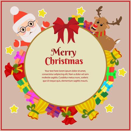 merry christmas with ribbon reindeer gift sacks