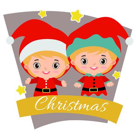 christmas with christmas children elf santa