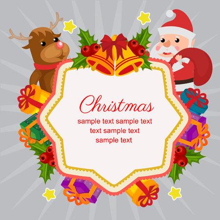 hello christmas with happy santa decoration