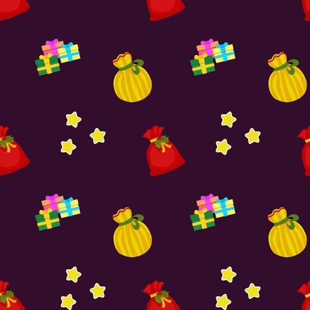 christmas pattern gift sacks