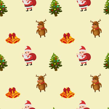 christmas pattern gift happy santa claus