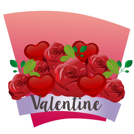 valentine with red rose theme