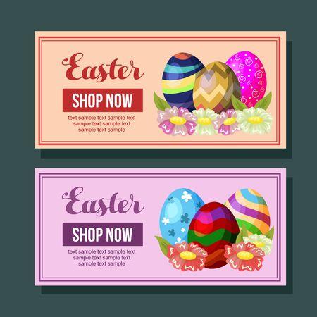 easter promo foliage egg seasonal Vectores