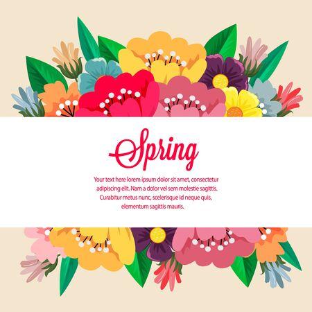 garden spring flower flat style vector
