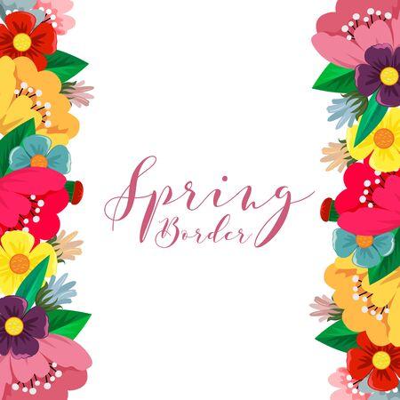spring flower border vector