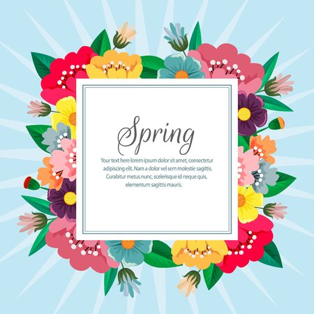 spring nature season with flower vector