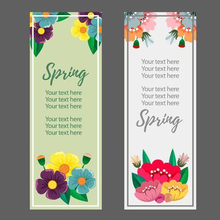 spring season flower banner vector