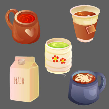hot drink set with various cup model