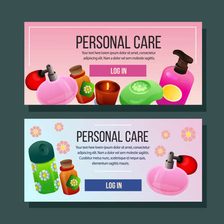 cosmetics banner horizontal personal care supplies