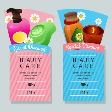 beauty care campaign vertical banner