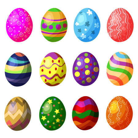 colorful egg collection set Vector Illustration