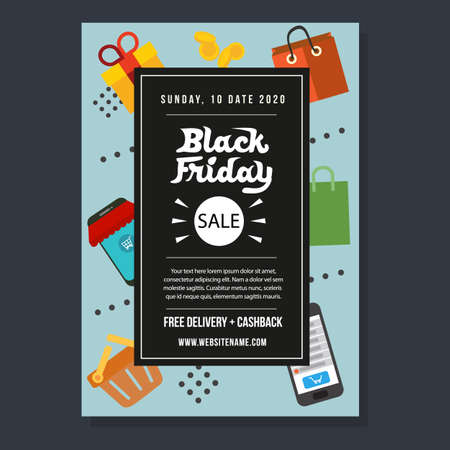 black friday template flyer campaign promo