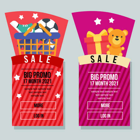 black firiday sale banner vertical shopping element