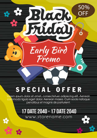 wooden black friday early bird promo flat style daily stuff