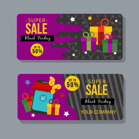 black friday gift voucher coupon template