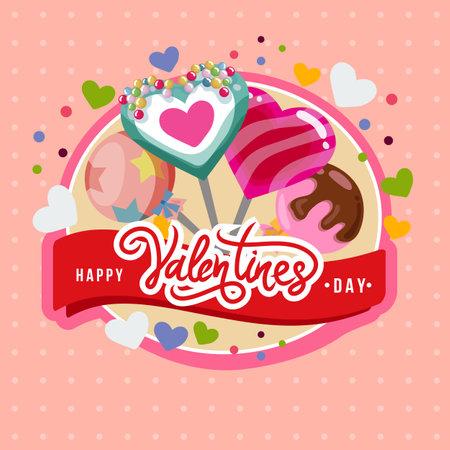 happy valentine day lollipop card