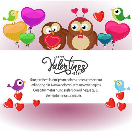 valentine card template cute bird