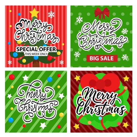Christmas card and sale  post set