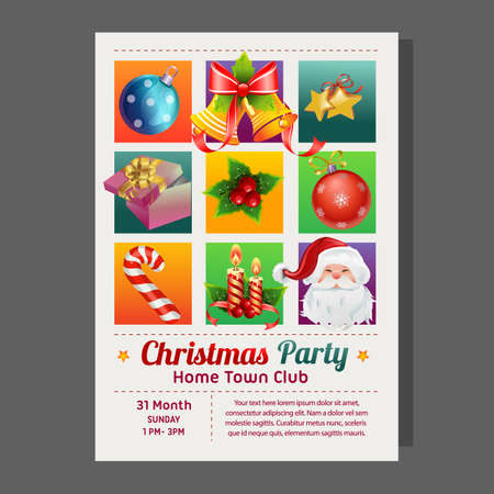 christmas party poster grid style