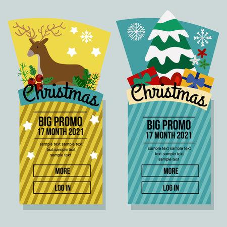 christmas sale banner vertical winter element