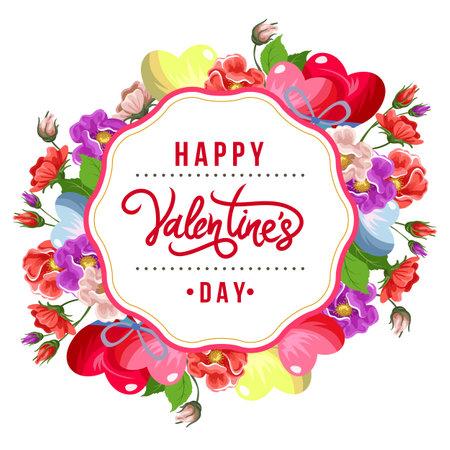 colorful valentine rose flower arrangement