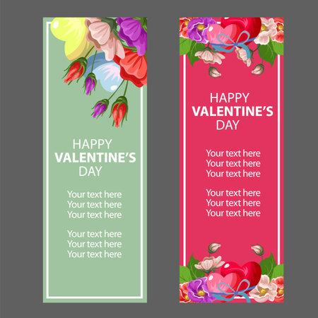 valentine vintage flower banner