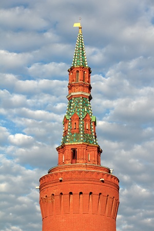 Petrovskaya Tower of the Kremlin wall  Moscow, Russia  photo