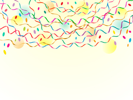 Party background with serpentine. Space for text. Vector