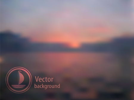 Evening sunset. Editable background for website design. Vector
