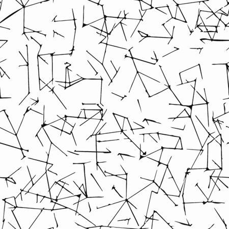 craquelure: Seamless grunge background with cracks and cracelures. Minimalistic design. Design with broken lines.