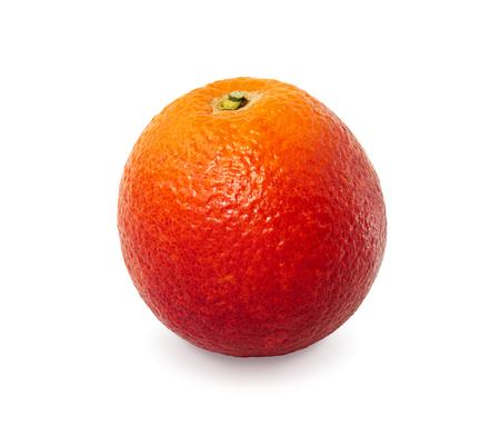 sanguine: Red orange on white background with clipping path. Washington Sanguine blood orange. Stock Photo