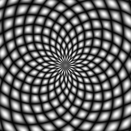 mesmerize: Black and white psychedelic background. Optical illusion.