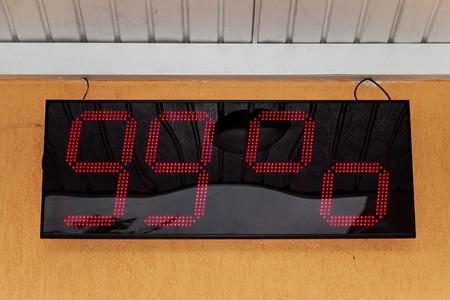 hygrometer: Moisture Measuring Meter. Outdoor display of the moisture meter. Humidity 99%.