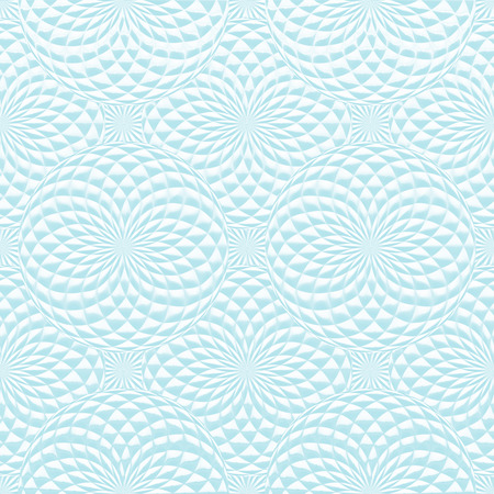 Abstract blue geometric background with spheres. Abstract stylish seamless pattern. Stock Photo