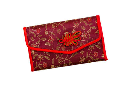 clutches: Beautiful womens purse in oriental style on a white background.