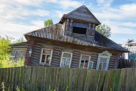 uglich russia: Old abandoned wooden house. Uglich. Russia.