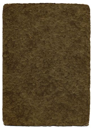 deckled: A brown textured background with wood pulp detail and an edge deckled from age. Stock Photo
