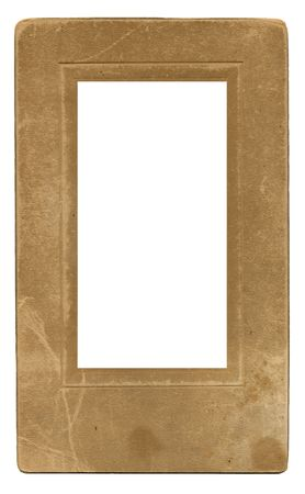 umber: An old vintage grunge photo frame: stained, scratched, water damaged, and way cool.