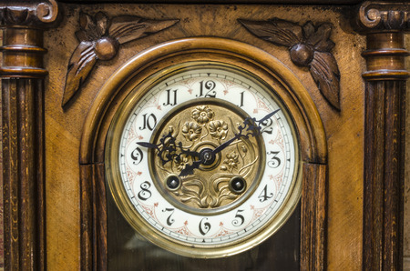 wooden clock: Ancient Standing Grandfather Wooden Clock