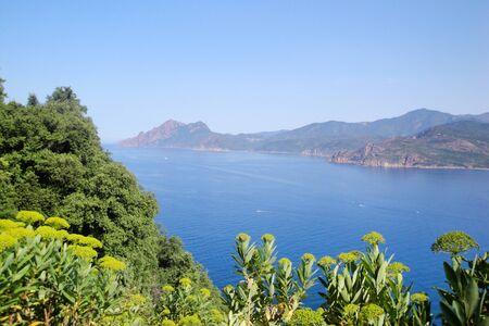 corse: Sea view, Porto, Corse, France Stock Photo