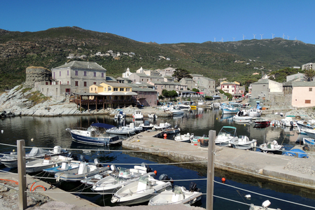 corse: Port and old town, Corse, France Editorial
