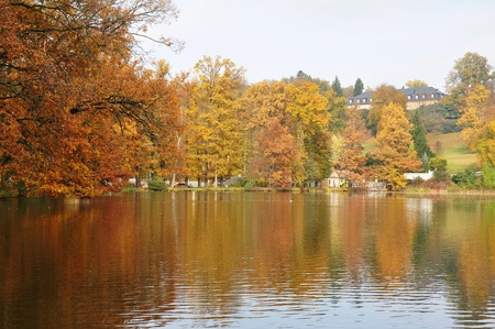 Autumn at the lake photo